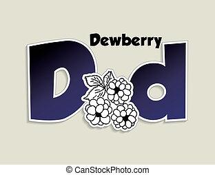 letter D - Fruits and vegetables alphabet - letter D -...