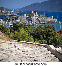 Bodrum, Turkey - View of St Peter Castle in Bodrum, Turkey