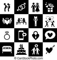 Valentine's day and wedding symbol