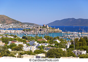 Bodrum, Turkey - Beautiful view from the popular holiday...