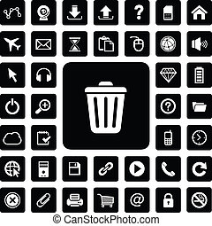 website technology icon set - technology icon set for...