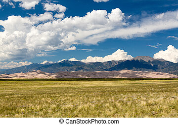Panorama of Great Sand Dunes NP - Wide panorama of the dunes...