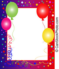 colorful party background with balloons