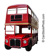 Isolated London Bus - Isolated Vintage Red London...