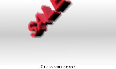 Animated sale sign - 3d Animated sale sign falling