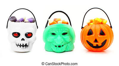 Halloween candy - Three types of Halloween candy holders...