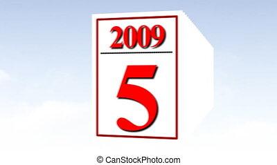 Calendar Animation -2 - 3d Calendar Animation -2