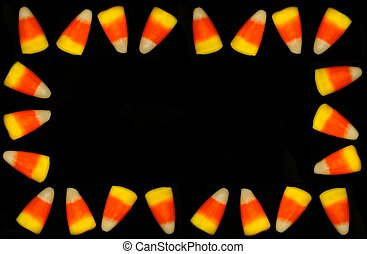 Halloween candy corn frame - Frame of Halloween candy corn...