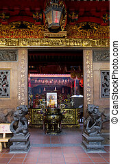 Entrance of Chinese temple in Ho Chi Minh City - Entrance of...
