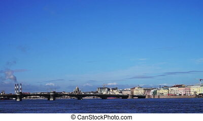 Bridge across Neva river, Saint Petersburg