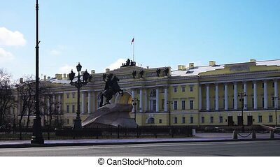 Monument to Peter the Great in St. Petersburg, Russia -...