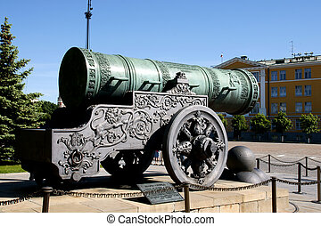 Cannon - The biggest ancient cannon in Kremlin, Moscow.