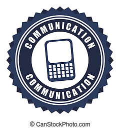 communication design over white background vector...