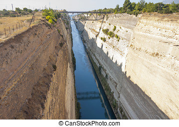 Corinth Canal  - The Corinth Canal in Greece.
