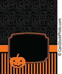 Elegant Striped Halloween Notecard - Halloween notecard to...