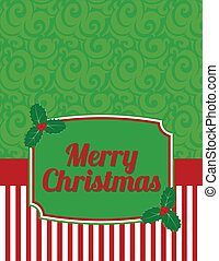 Elegant Striped Christmas Notecard - Christmas notecard to...