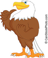 eagle cartoon thumbs up