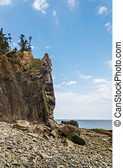 Cliifs of Cape Enrage along the Bay of Fundy (Cape Enrage,...