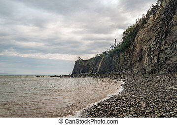 Cliifs of Cape Enrage along the Bay of Fundy Cape Enrage,...