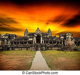 Angkor Wat at sunset.