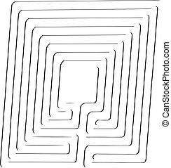 Abstract labyrinth - Abstract image of the labyrinth. Vector...