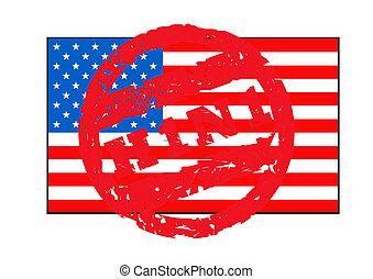 American swine flu flag