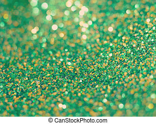 green glitter background old retro vintage style