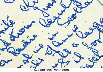Old letter - Vintage hand writing on a letter. Old paper...