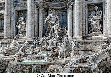 The famous Trevi Fountain in Rome.