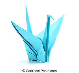 Origami bird (Shadoof) close-up.