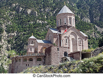Church, Darial Gorge, Georgian Military Road, Georgia,...