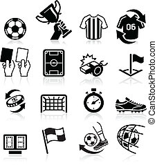 Soccer icons. Vector illustration