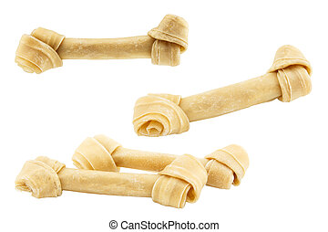 Set of dog bone isolated on white background - Set of dog...
