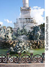 The Place des Quinconces, Bordeaux - Details of the Place...