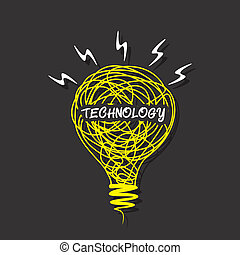 creative 'technology' word concept