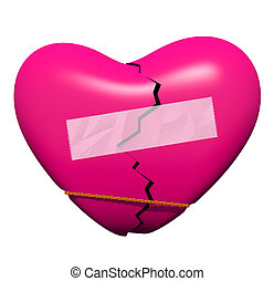 Mending a Broken Heart - A broken heart is on the mend,...
