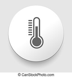 Thermometer icon on white background EPS10 illustration