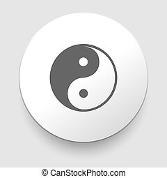 Yin and Yang symbol on white background. EPS10 illustration
