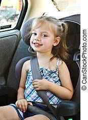 criança, car, assento