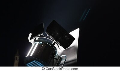 spotlight reflector at night