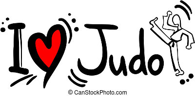 Judo love - Creative design of judo love