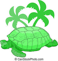 Jungle turtle - Creative design of jungle turtle