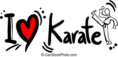 Karate love - Creative design of karate love