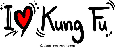Kung fu love - Creative design of kung fu love