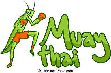 Muay thai card - Creative design of muay thai card
