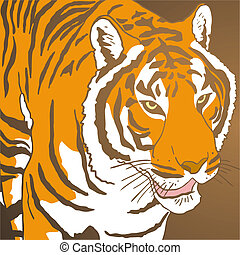 Tiger cover - creative design of tiger cover