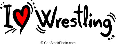Wrestling love - Creative design of wrestling love