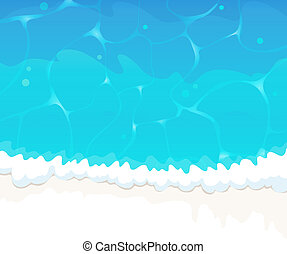 Ocean wave - Blue ocean waves with white foam