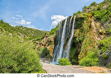 Waterfall Krcic in Knin - Waterfall Krcic flows into the...