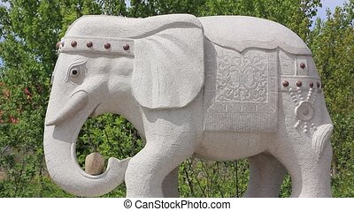 marble statue of elephant